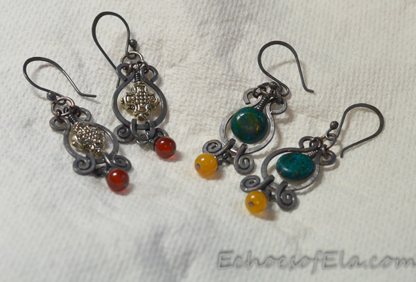 teal-yellow-bead-earrings