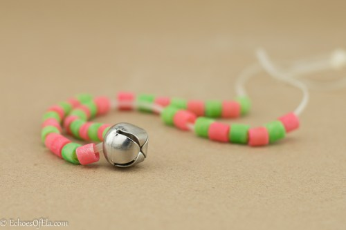 The best macaroni-jingle bell necklace ever