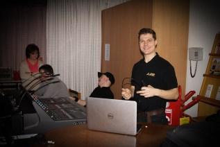 Unser Tontechniker Michael Löhnert bei der Karnevalssitzung 2014