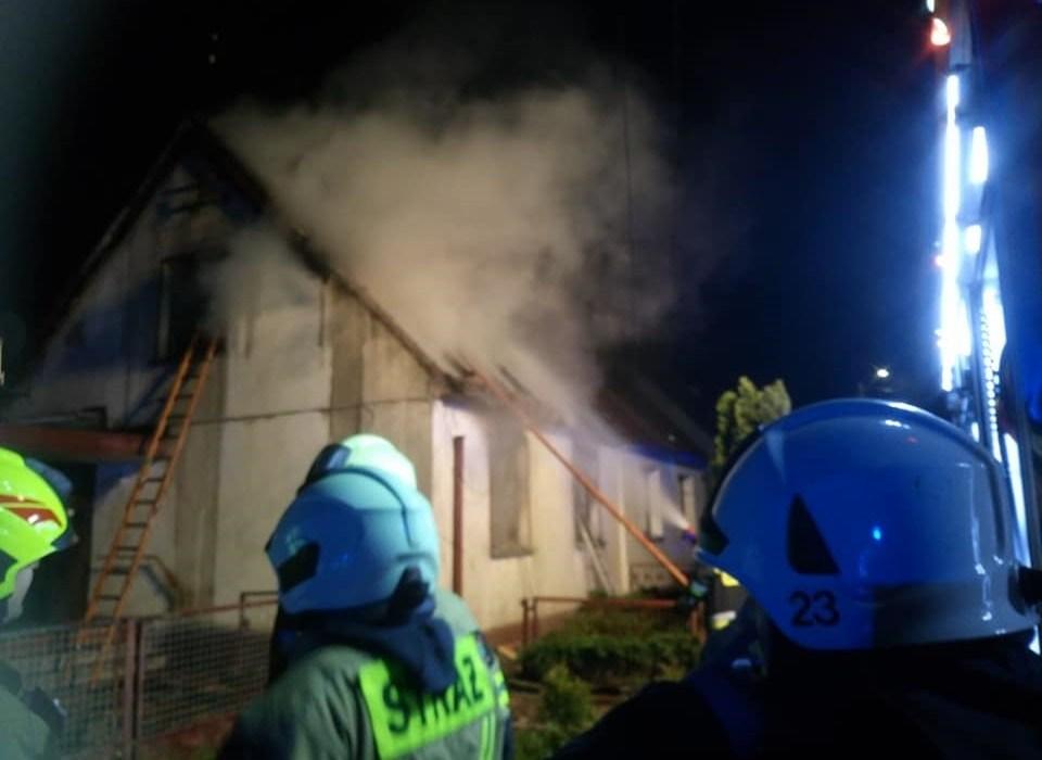 Pożar w Czarnowąsach. Jedna osoba nie żyje 1