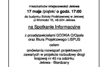 Spotkanie w Jełowej nt. rozbudowy drogi krajowej 3