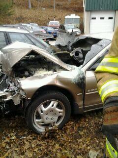 Brigeport ave post MVA car fire