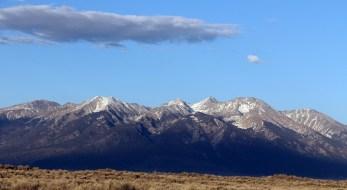 Blanca Peak, just before sunset.