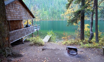 Cabin Three Firepit View