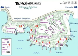 Echo Lake Resort Map Updated 2017