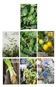 box jardinage bio été : sachet de graines bio et reproducible facile à cultiver sur balcon