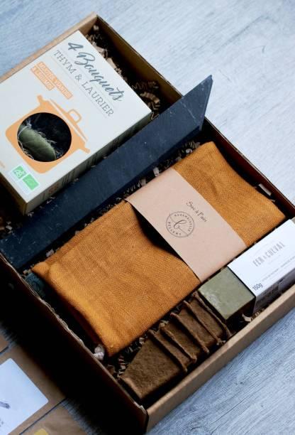 box jardinage made in France, coffret cadeau kraft et élégant