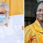 Former President Jerry John Rawlings and Prof Naana Jane Opoku Agyemang - 85931986