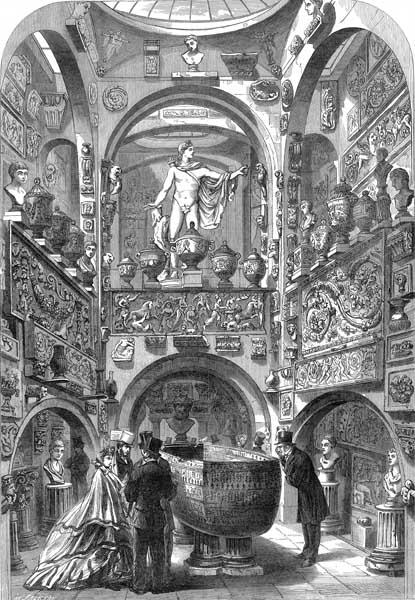 John Soane Sarcophagus room in 1864