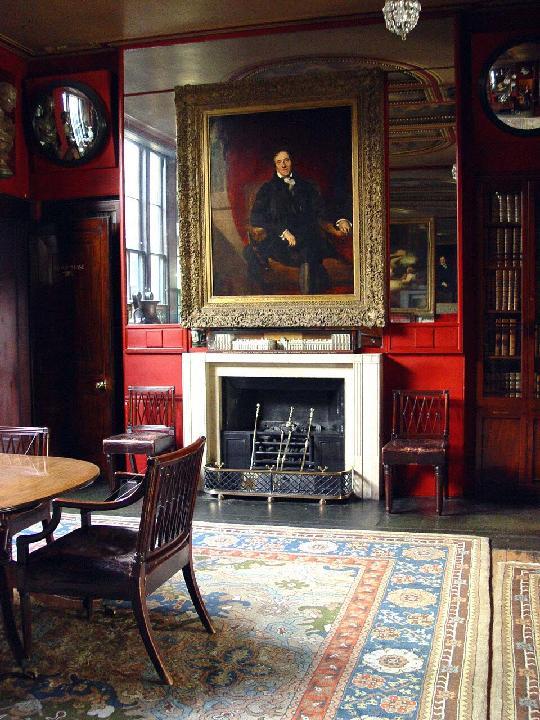 John Soane's Dining Room with portrait
