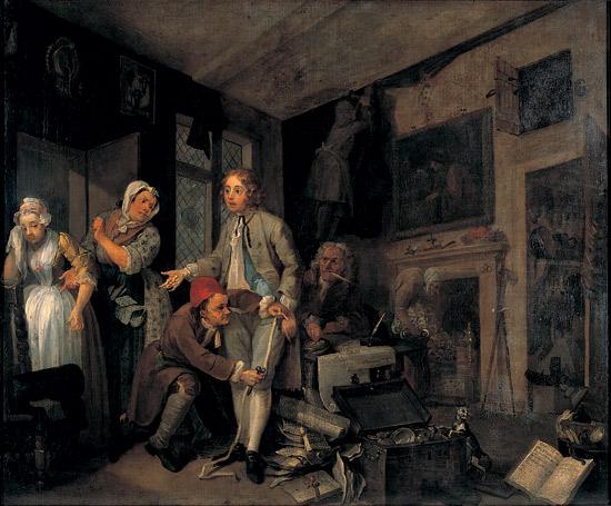 A Rakes Progress The Rake taking possession of his estate 1734