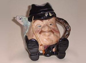 Staffordshire fisherman-teapot-