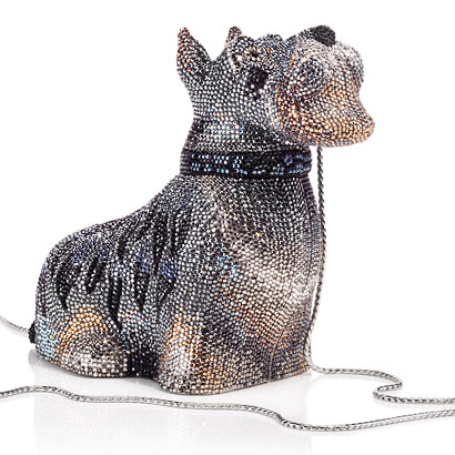 schnauzer dog handbag by  judith leiber