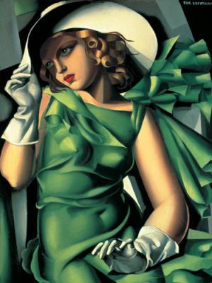 Tamara-de-Lempicka-Portrait-of-a-Young-Girl-in-a-Green-Dress--1930