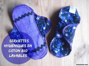 Serviettes hygiéniques lavables coton bio- echosverts.com