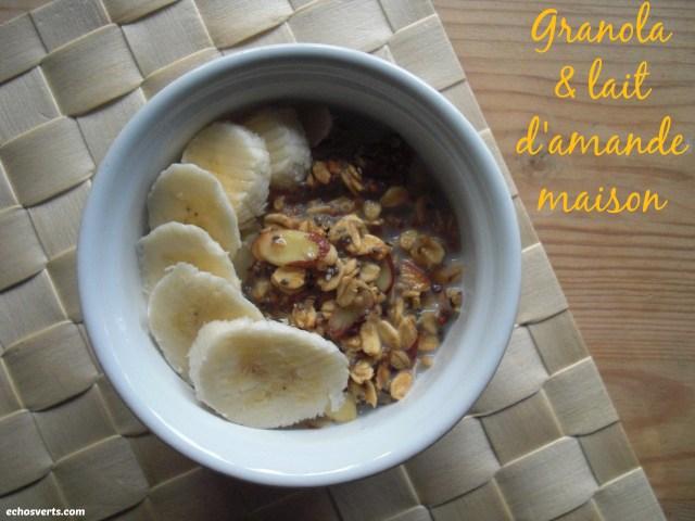 Granola et lait d'amande maison- copyright- échos verts
