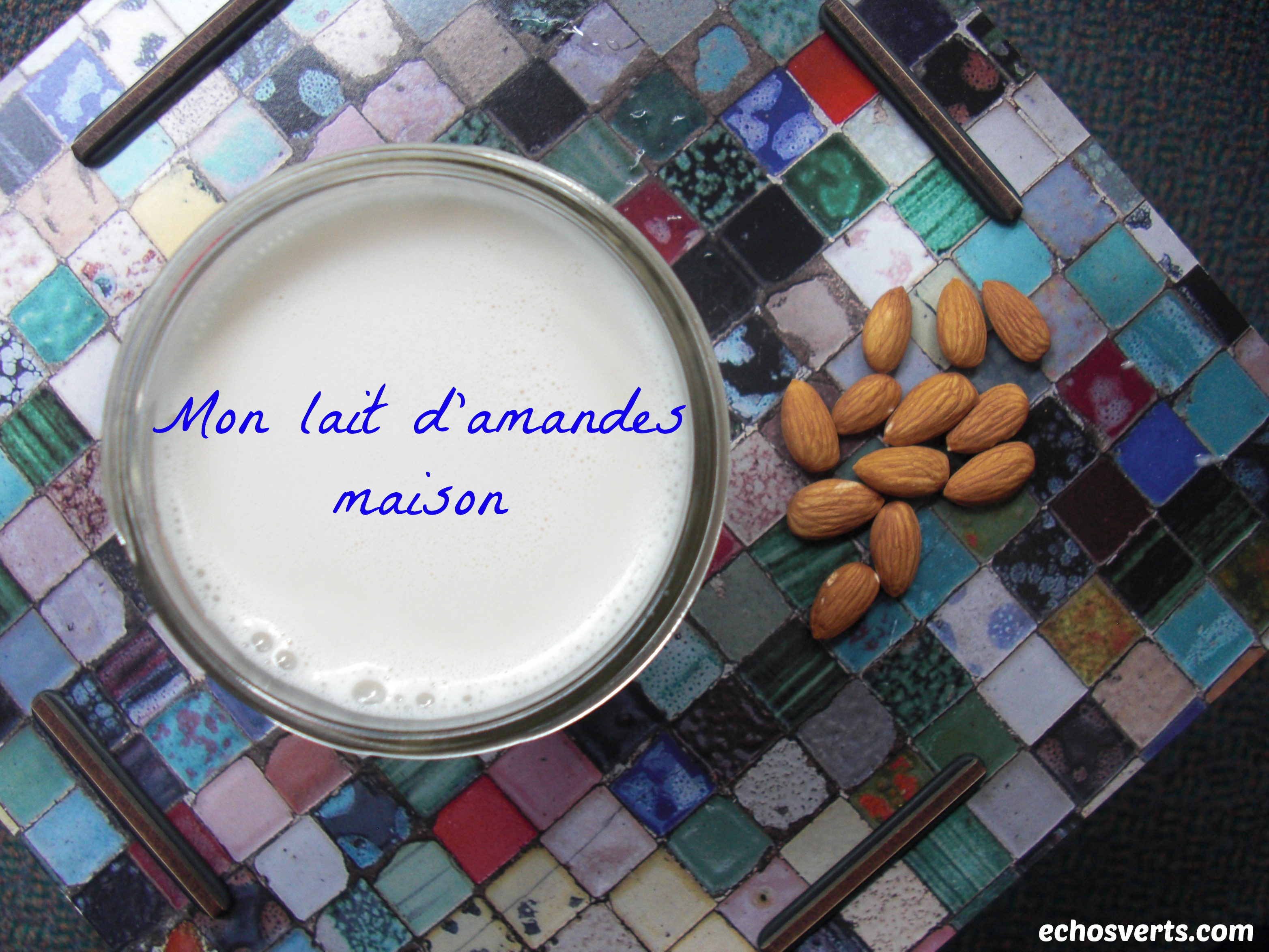 lait d'amandes maison- copyright- échos verts