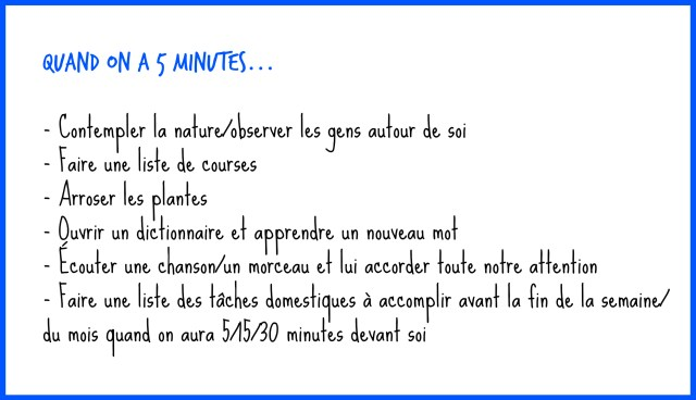 Quand on a 5 minutes- copyright - échos verts