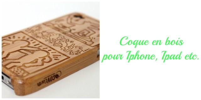 Coque en bois smartphone fabriquée en France- idée cadeau écolo