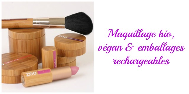 maquillage bio végan emballage rechargeable