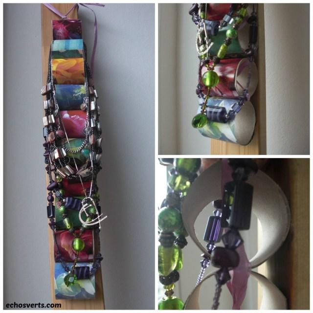 Présentoirs à colliers- DIY- copyright- échos verts