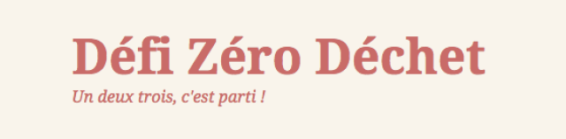 défi zéro déchet blog