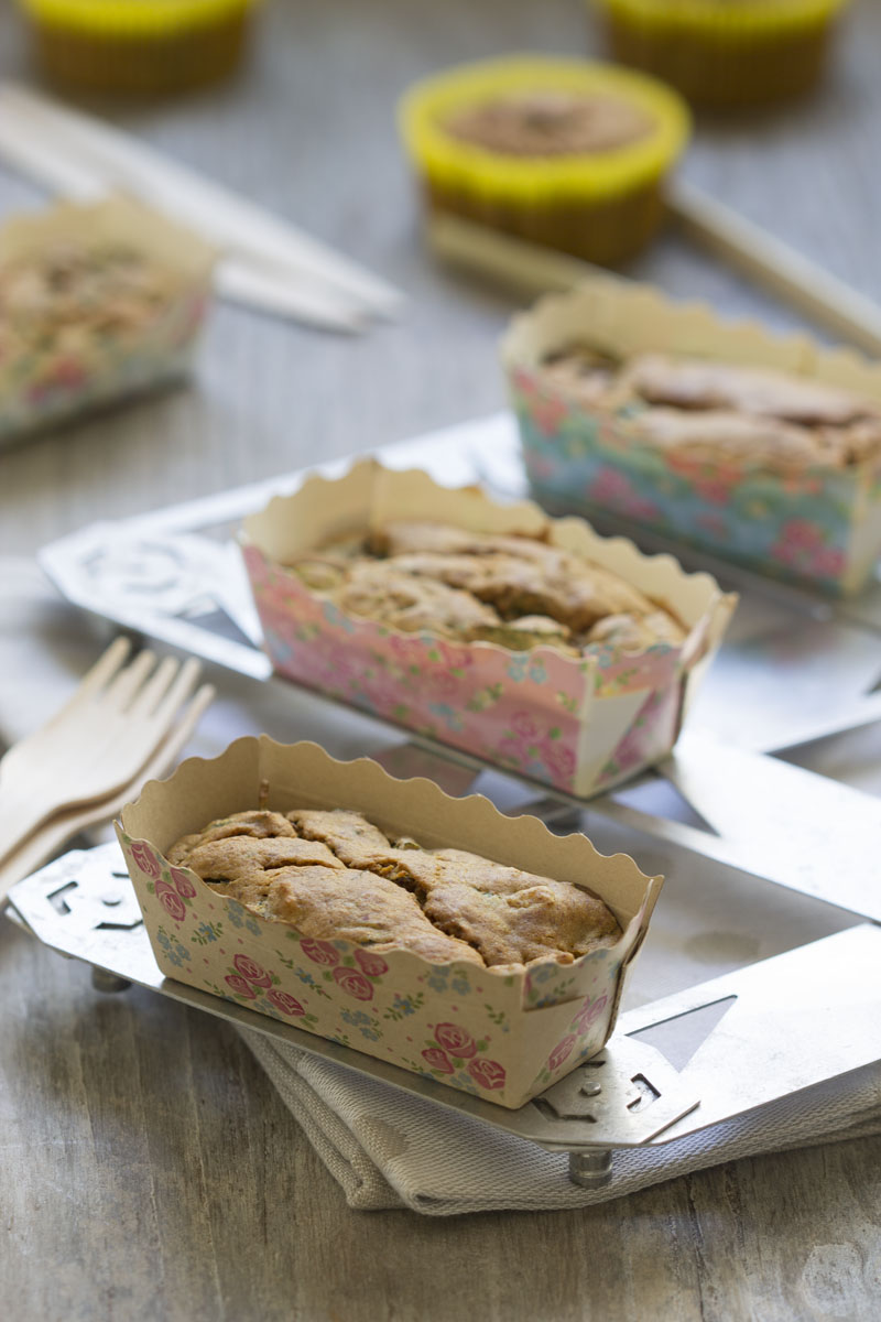 Cake sarrasin courgette échalotes