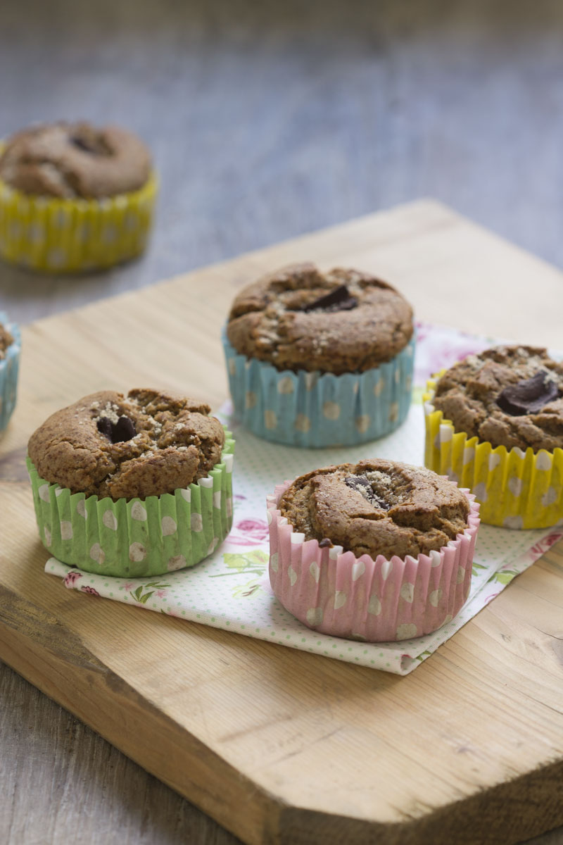 Muffins express sarrasin chocolat