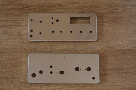 The metal work completed for front and back panels.