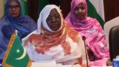 """صورة انتقال رئاسة المجلس التنفيذي لـ """"المرأة العربية"""" من المغرب إلى موريتانيا"""