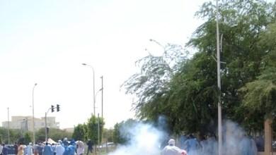"""صورة الشرطة الموريتانية تفرق بالقوة مظاهرة شبابية منددة ب""""تملق وزيرالعــدل """""""