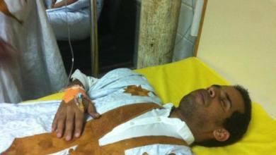 """صورة نقل أحد شباب """" حـراك ماني شاري كزوال """" إلى المستشفى الوطني في ظروف صحية حرجة"""
