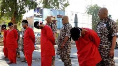 """صورة داعش يذبح خمســة عراقيين في مدينة  """"البوكمال """" السورية"""