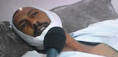 """صورة نقل شرطي تعرض لإصابات بليغة في مواجهات """"مستشفى"""" ولدبوعماتو """"للعلاج خارج البلاد (صورة)"""