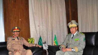 صورة جلسة عمل تجمع قائدي الأركان الموريتاني والسعودي