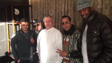 صورة فرنسا : لقاء بين محمد ولد بوعماتو وأعضاء فرقة أولاد لبلاد (صورة)