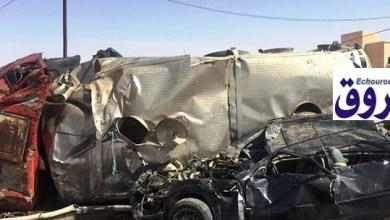 صورة نواكشوط : ضحايا في حادث سير مروع في تفرغ زينة