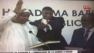 صورة السينغال : آدما بــارو يؤدي اليمين الدستورية رئيسا لجمهورية غامبيا