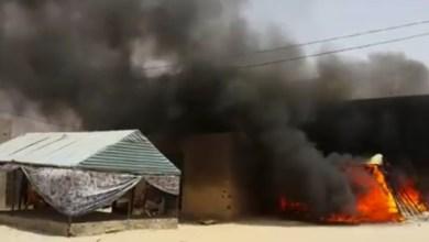 """صورة أمبود : وفاة طفل  وإصابة إثنين آخرين  جراء حريق في قرية """" الباشات """" ببلدية فم لكليتة"""