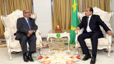 صورة موريتانيا: الرئيس يستضيف مبعوثا خاصا من نظيره الجزائري