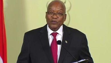 """صورة إستقالة """"زوما"""" من رئاسة جنوب إفريقيا وتوقيف مقربين منه"""