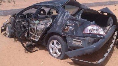 صورة قتلى وجرحى في حادثي سير على طريق الأمل