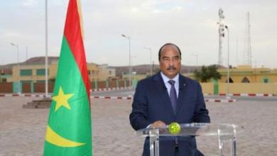 صورة الرئيس ولد عبد العزيز : موريتاتيا عرفت مؤخرا نهضة تنموية شاملة ( نص الخطاب)