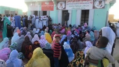 صورة دائنو الشيخ الرضا يحتجون ويطالبون الوزير سيدي محمد ولد محم  بالإعتذار