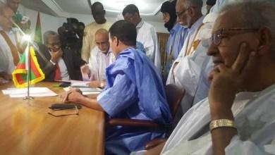 صورة ولد مولود يقدم ملف ترشحه لرئاسيات 2019