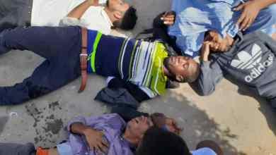 صورة مصابون جراء تفريق الشرطة تظاهرة للطلاب المحتجين على منعهم من التسجيل