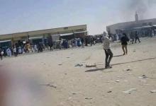 صورة محتجون في مدينة الشامي يقطعون الطريق الرابط بين نواكشوط ونواذيبو