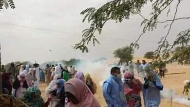 صورة إصابة 20 شخصا بجروح جراء تفريق مظاهرة لسكان تيفريت