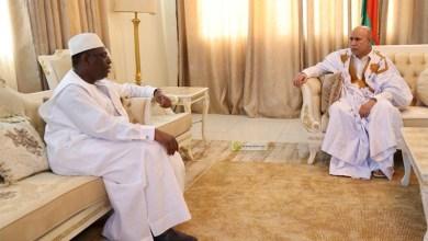 صورة مباحثات بين غزواني وماكي صال في النيجر