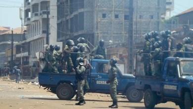 صورة إطلاق نار كثيف قرب القصر الرئاسي في العاصمة الغينية